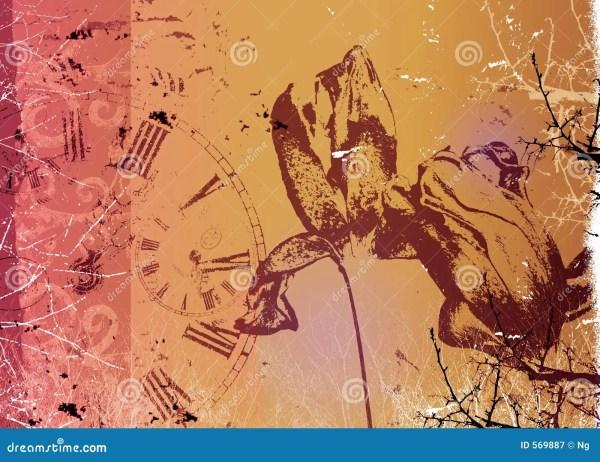 Fine Art Illustration - Flower Time Royalty Free Stock 569887
