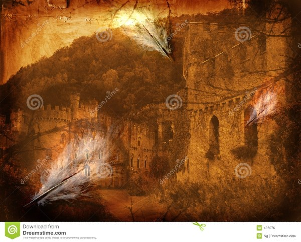 Fine Art Illustration - Mystery Castle Royalty Free Stock 486076