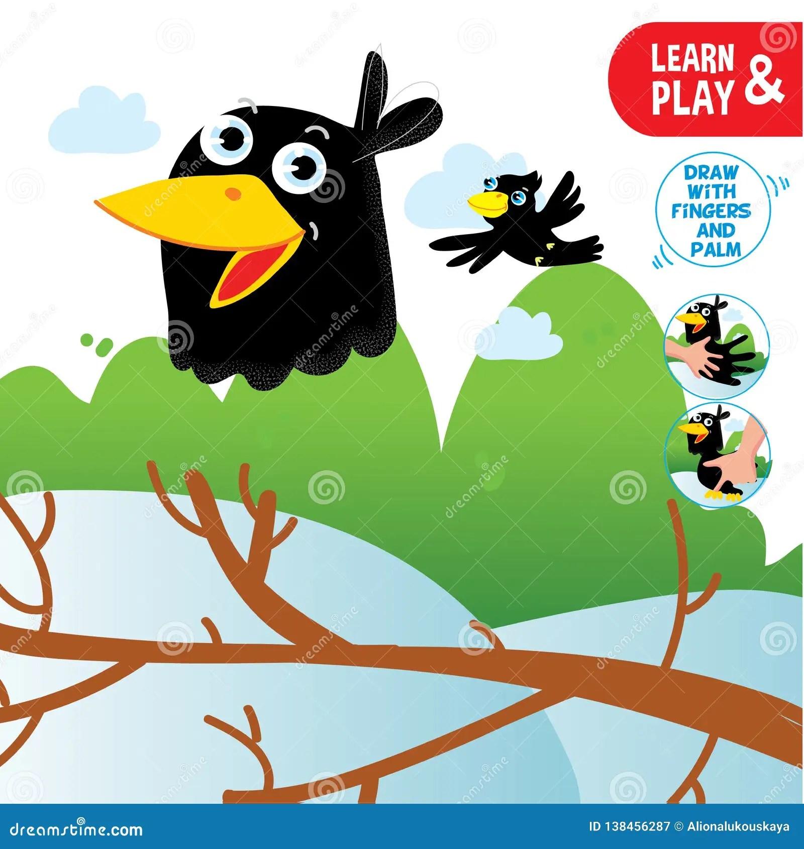 Drawing Tutorial For Preschool Children Cartoon Vector