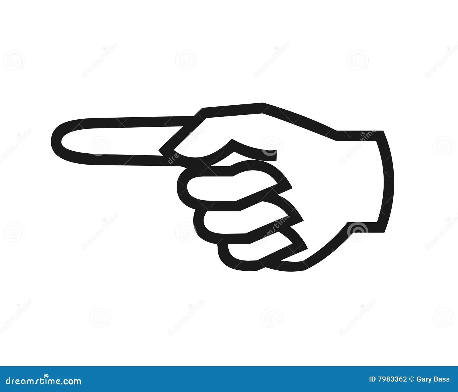 Finger Pointing Symbol Stock Illustration Illustration Of