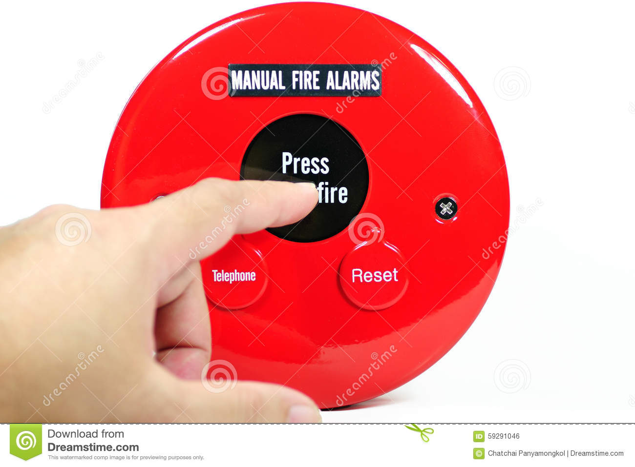 The Panic Manual Images Of Home Design Simple Fire Alarm Circuits Using Germanium Diode And Lm341 At Low Cost Finger Pressing On Stock Photo