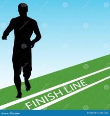 Runner Crossing Finish Line Clip Art
