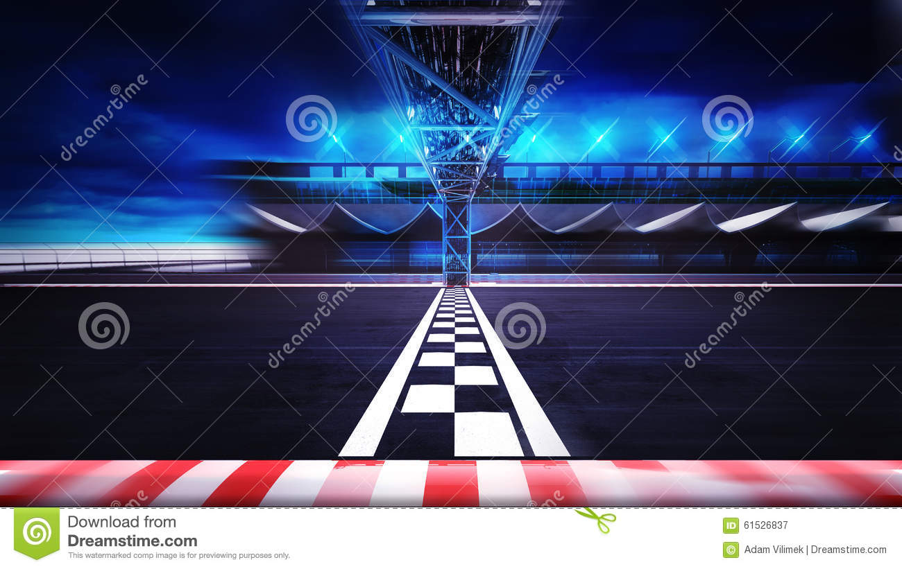 Race Car Anime Wallpaper Finish Line On The Racetrack In Motion Blur Side View