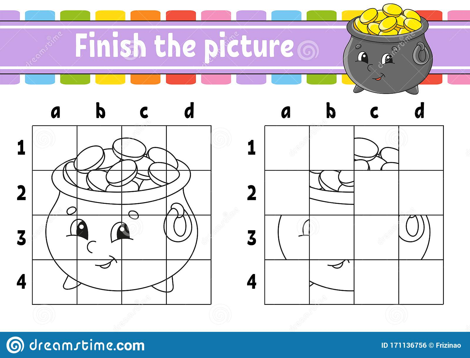 Finish The Picture Coloring Book Pages For Kids