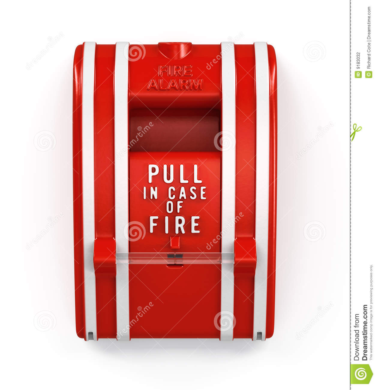 hight resolution of fire alarm pull station