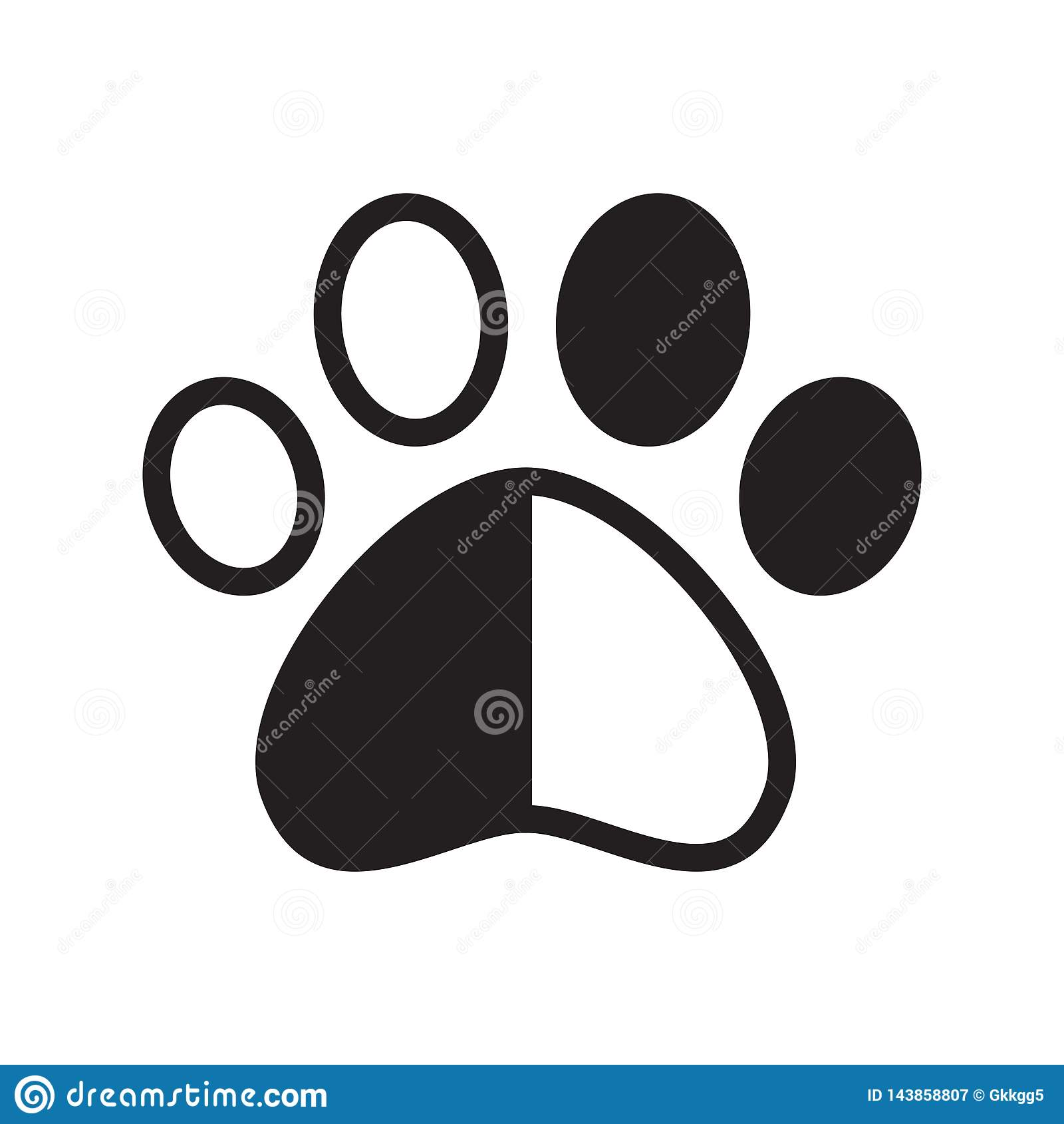 hight resolution of dog paw vector footprint icon logo pet cat kitten claw cartoon character graphic symbol illustration french bulldog bear