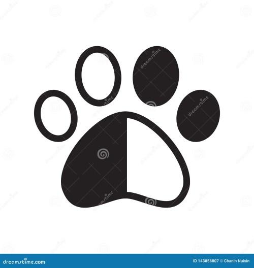 small resolution of dog paw vector footprint icon logo pet cat kitten claw cartoon character graphic symbol illustration french bulldog bear