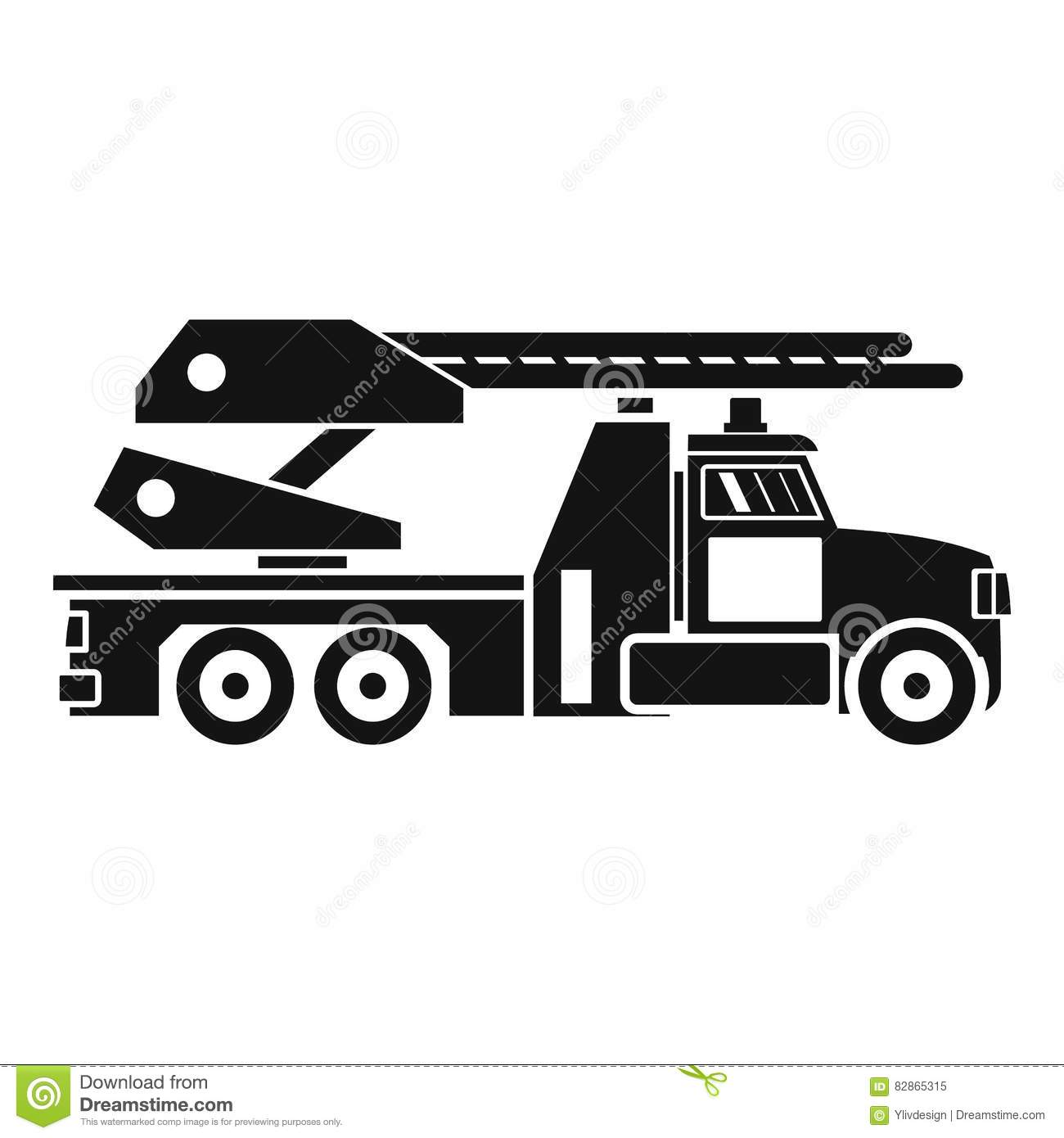 Fire Engine Icon Simple Style Stock Vector