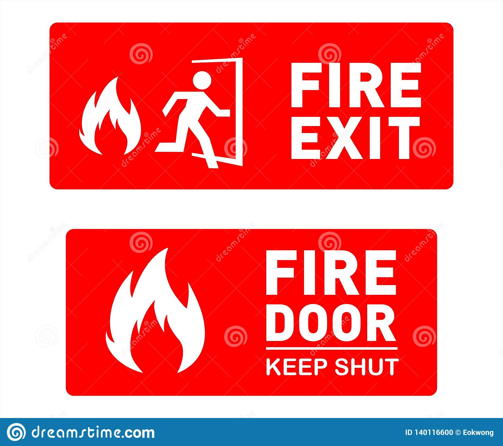 Fire Exit Sign Template Designs
