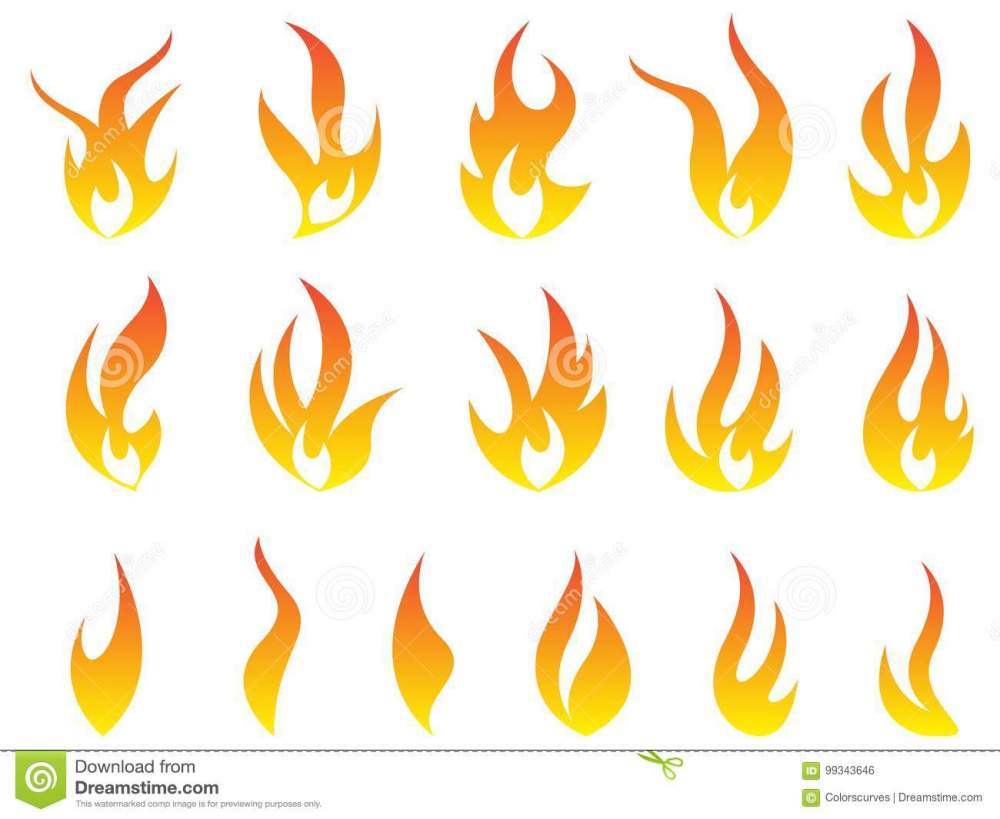 medium resolution of fire flames logo heat energy collection symbol vector icons design isolated on white background