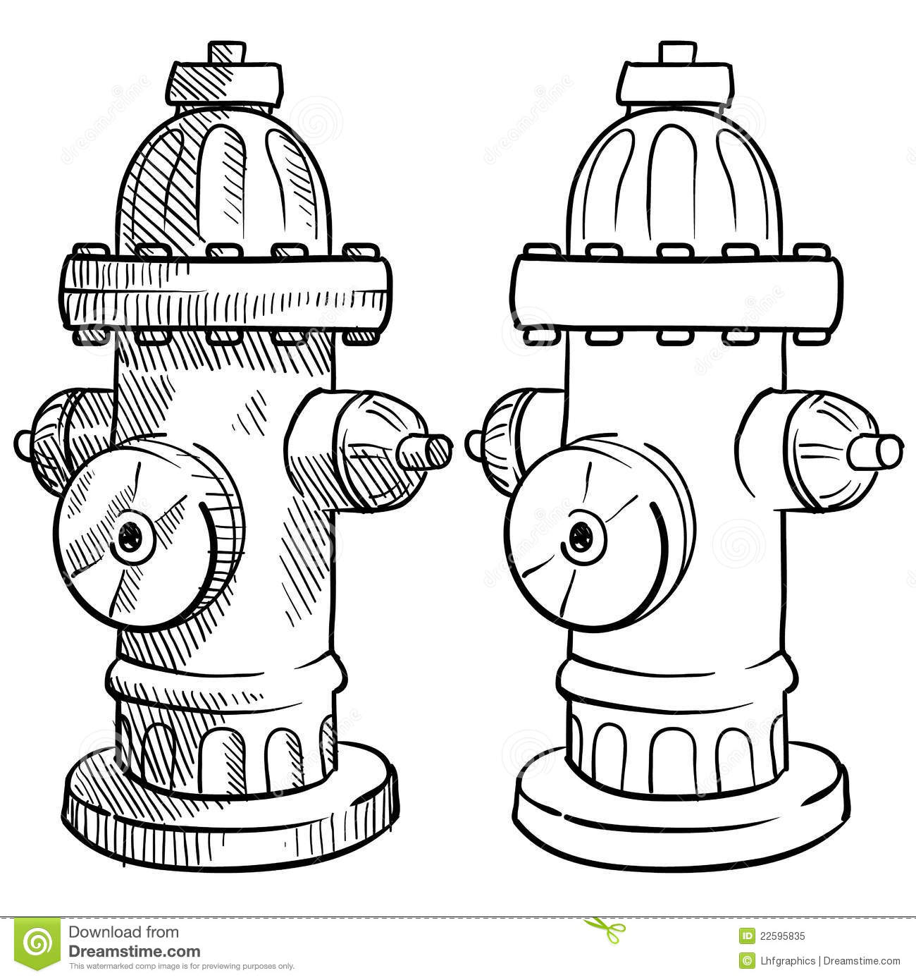 Fire Hydrant Sketch Stock Vector Image Of Department