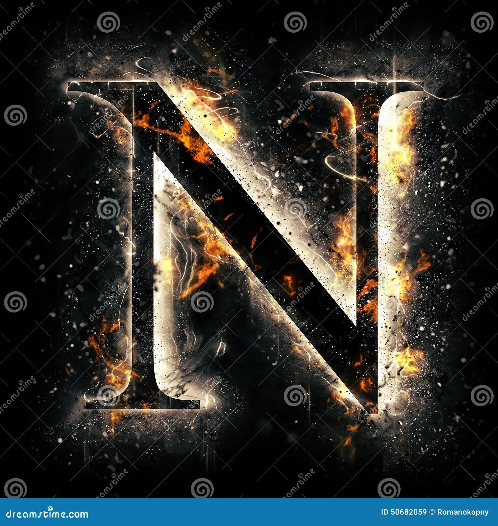 Letter S 3d Wallpaper Fire Letter N Stock Illustration Image 50682059
