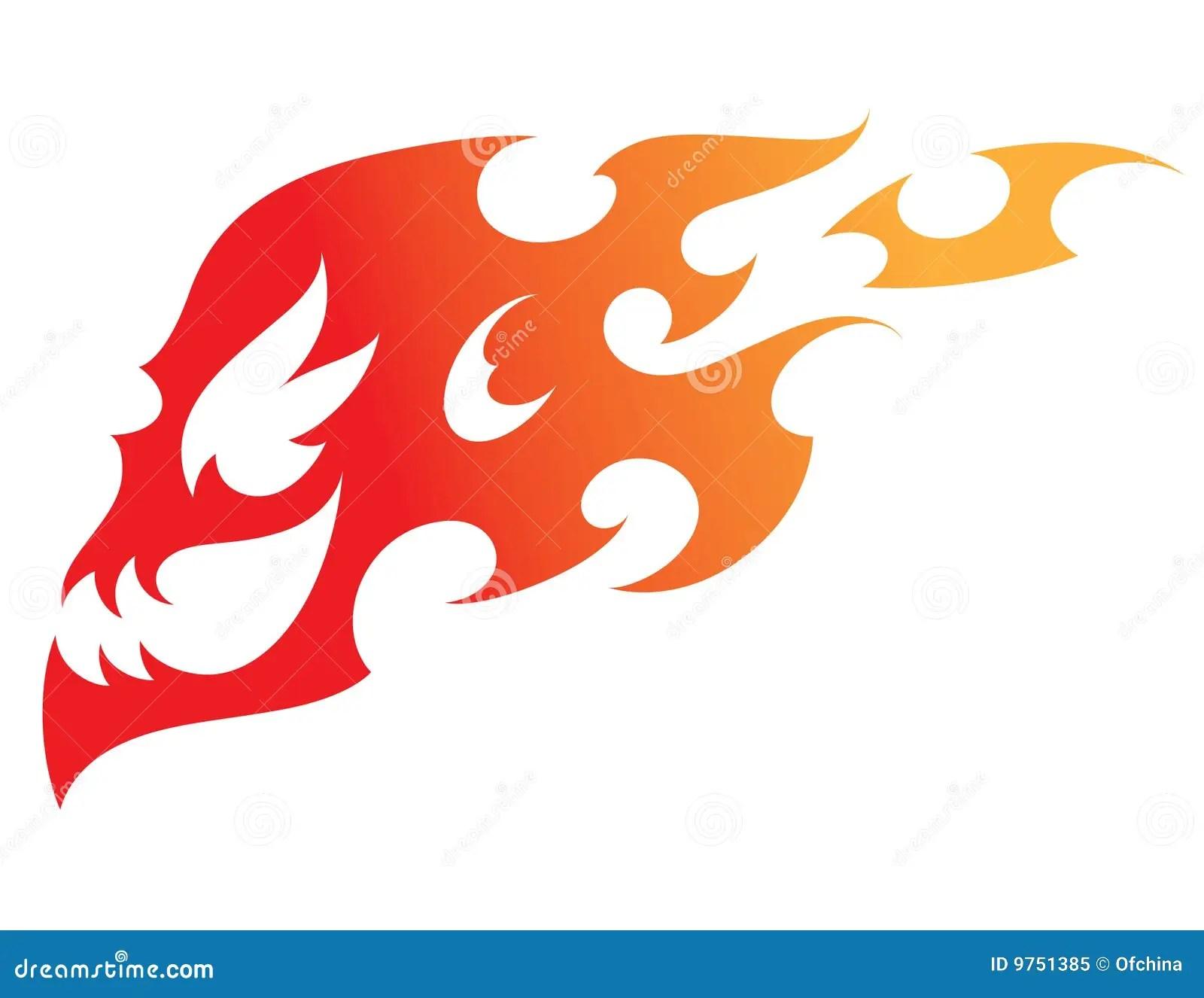 Fire Skull Royalty Free Stock Photo  Image 9751385