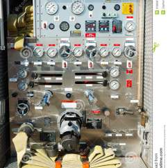 Emergency Plan Diagram Integumentary System Labeled Fire Truck Control Panel Stock Image - Image: 3166561