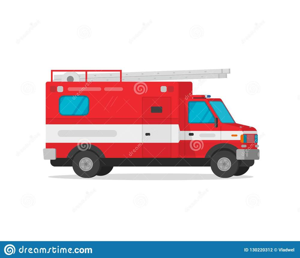 medium resolution of fire truck vector illustration flat cartoon firetruck emergency vehicle isolated on white background