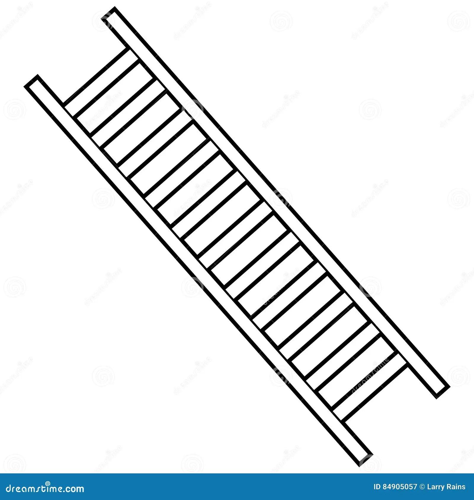 Firefighter Ladder Illustration Stock Vector