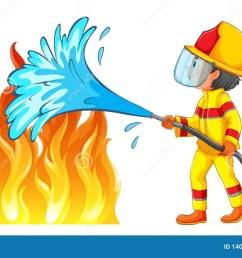 firefighter putting out a fire [ 1600 x 1026 Pixel ]