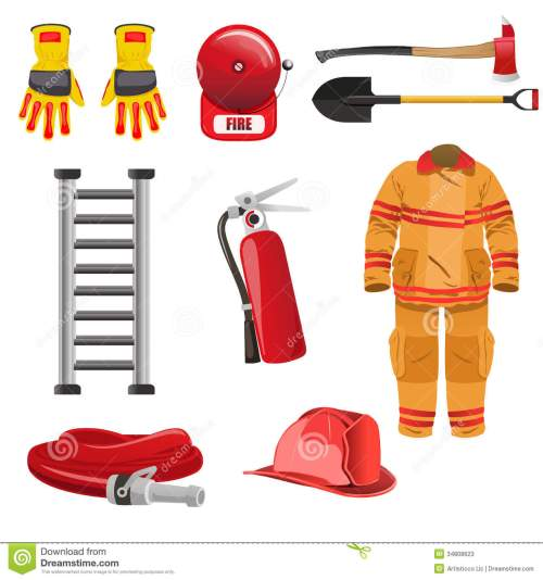 small resolution of firefighters icons stock photos image 34808623