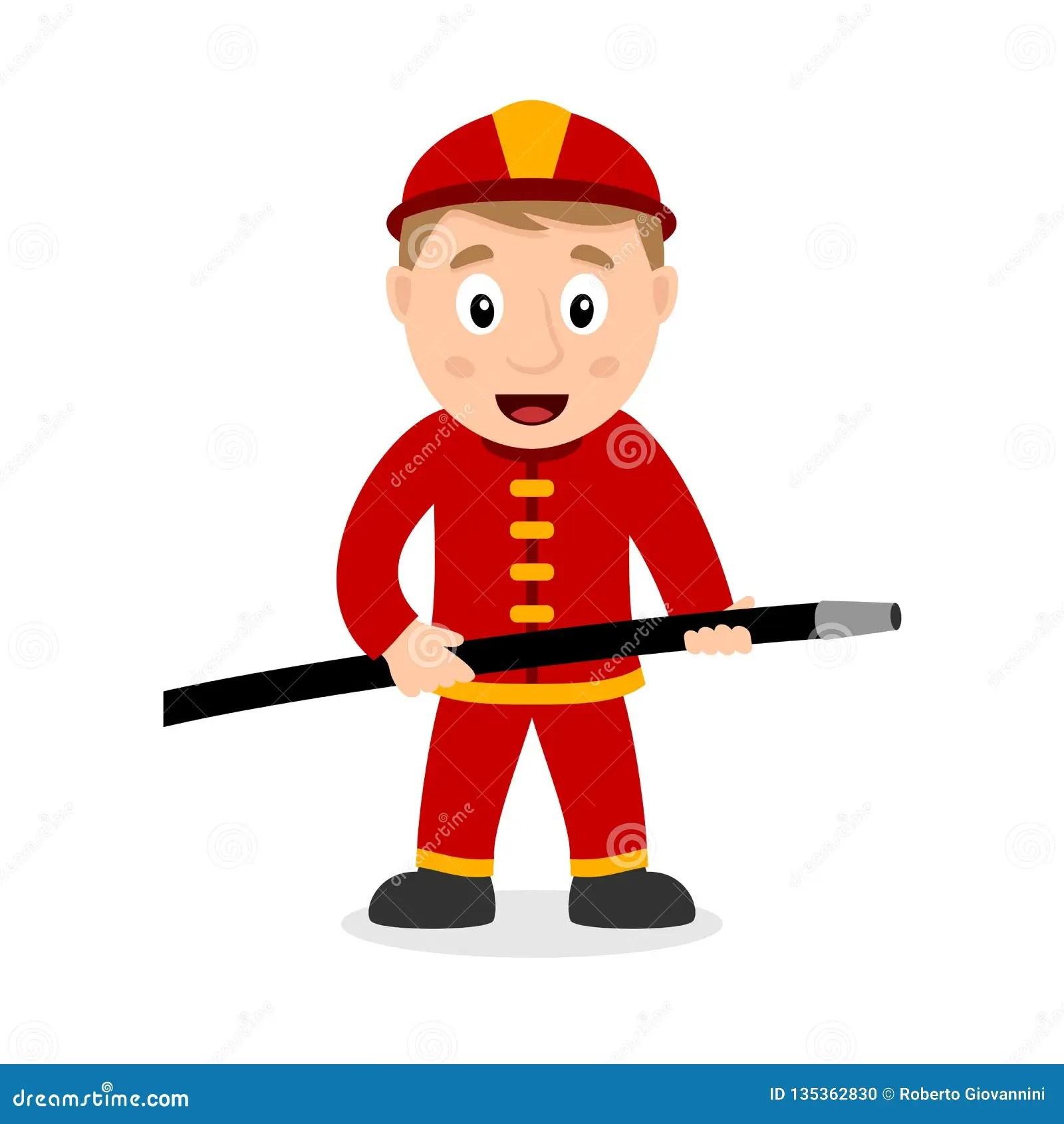 fireman cartoon character with