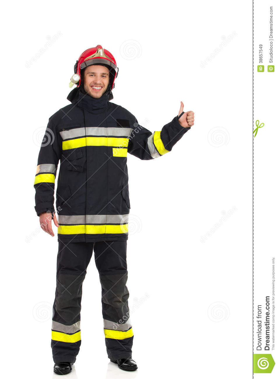 Fireman Showing Thumb Up Royalty Free Stock Images  Image