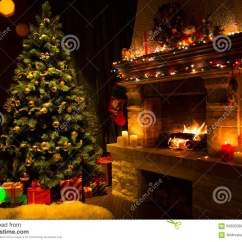 Living Room Pictures Clipart Furniture On Sale Fireplace And Decorated Christmas Tree Candles Stock ...