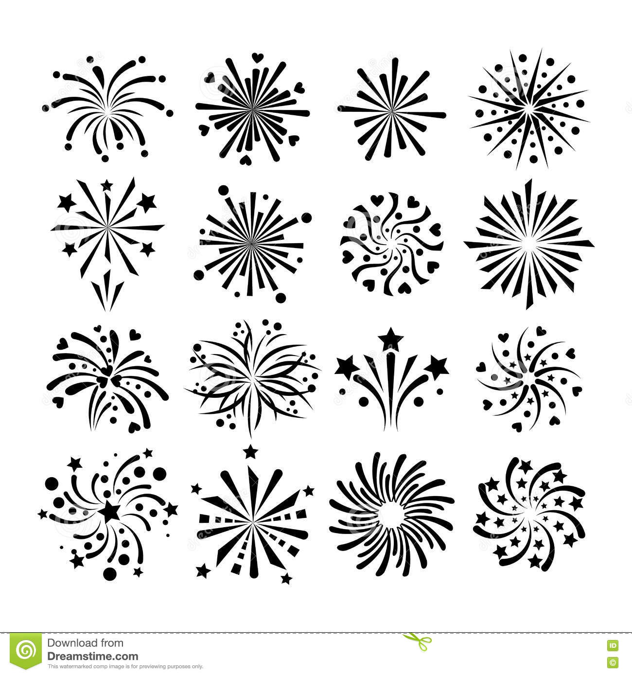 Fireworks Vector Icon Stock Vector Illustration Of
