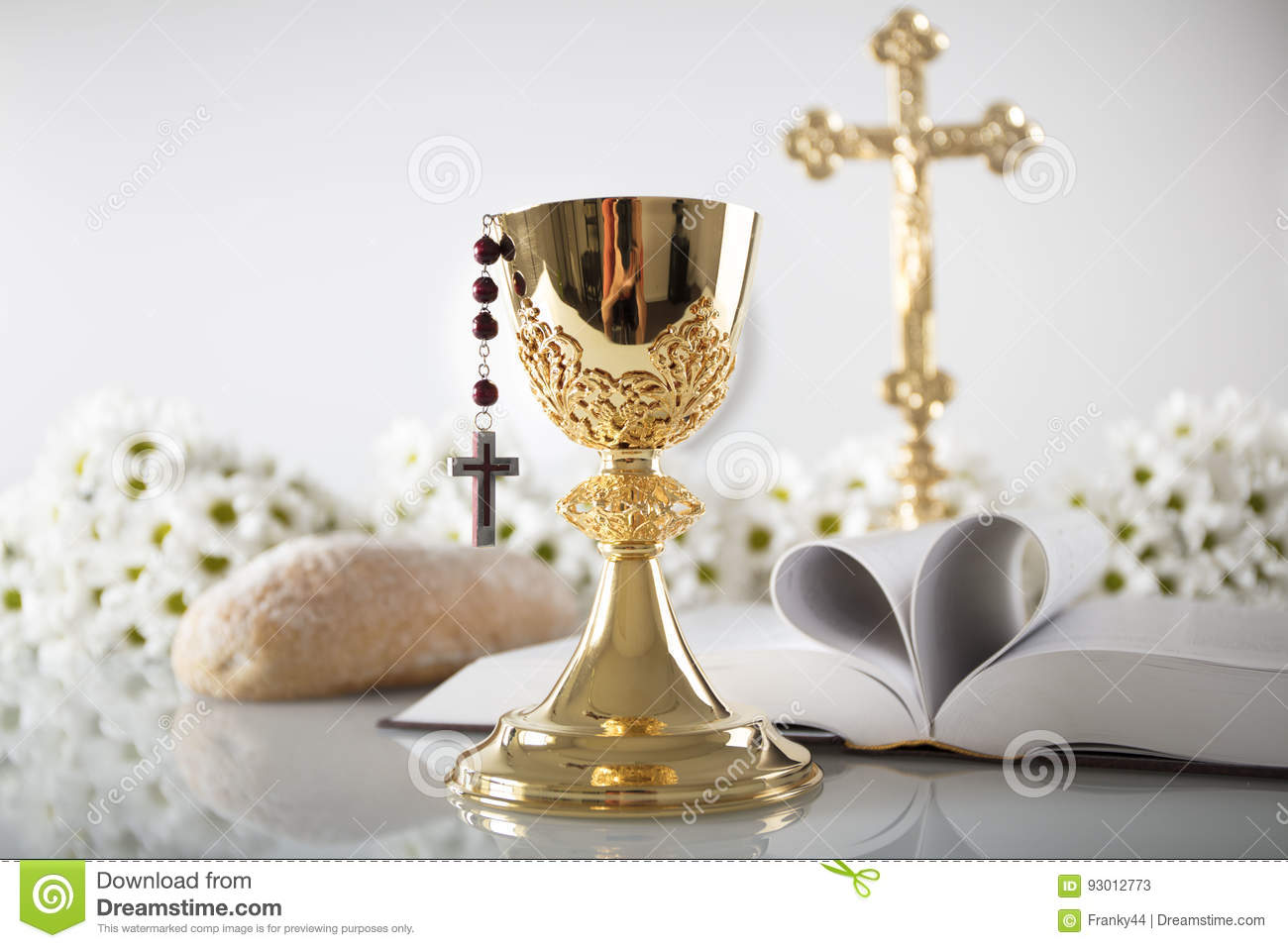 First Holy Communion Stock Image Image Of Chalice