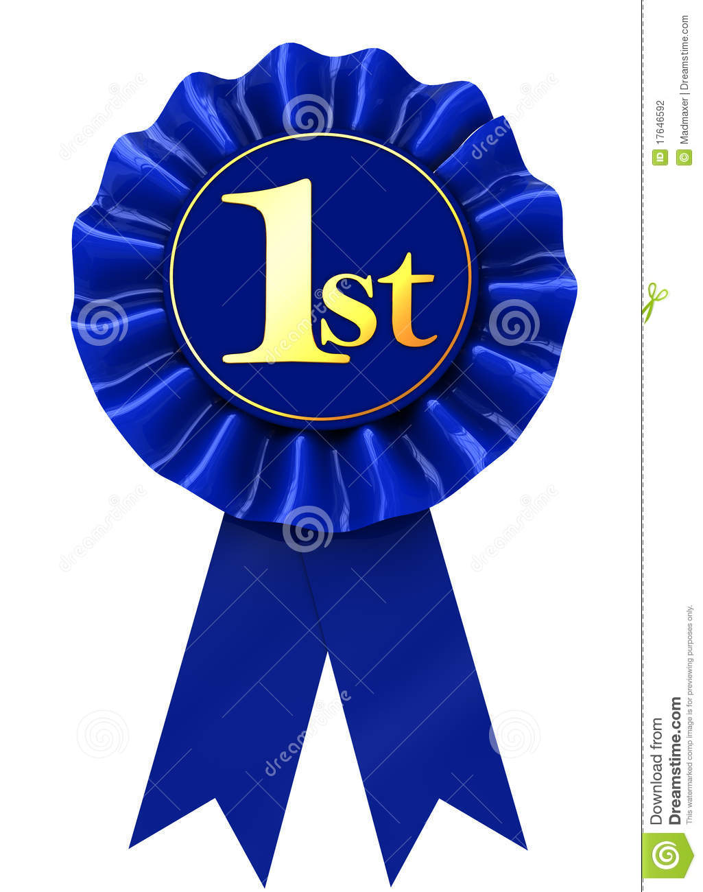 First Place Ribbon Stock Illustration Image Of Badge