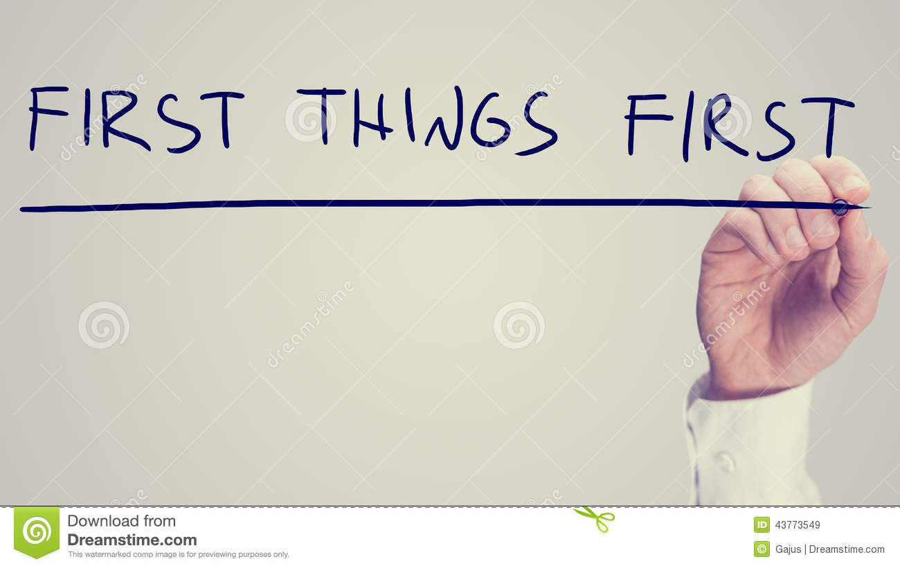 First Things First Time Management Worksheet