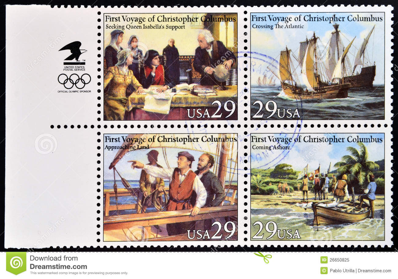 First Voyage Of Christopher Columbus Stock Image