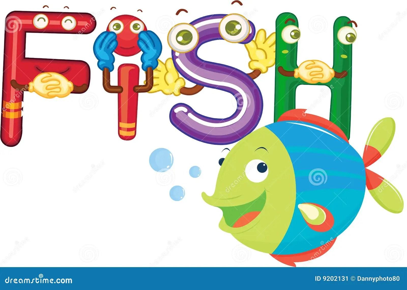Fish Alphabet Stock Illustration Illustration Of Sketch