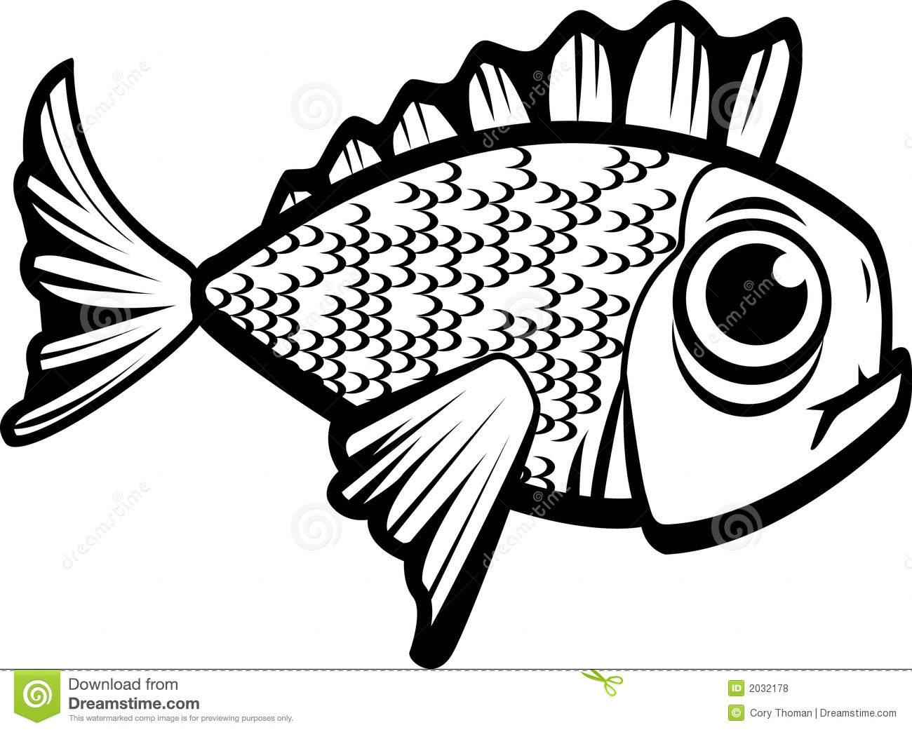 Fish Black And White Stock Vector Illustration Of