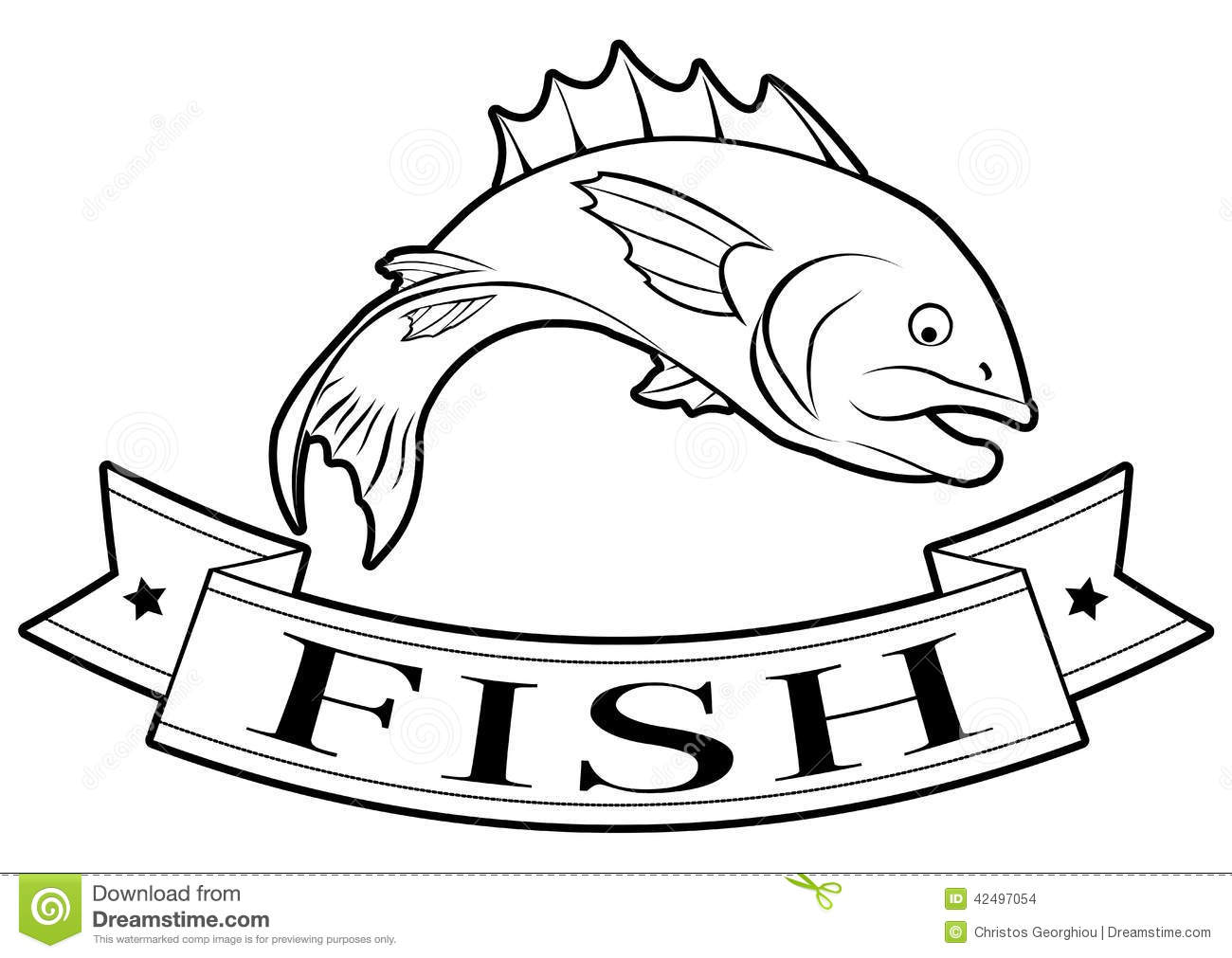 Fish Food Label Stock Vector Image Of Fishing Food