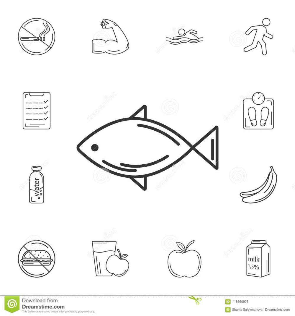 medium resolution of fish icon simple element illustration fish symbol design from gym and health collection set