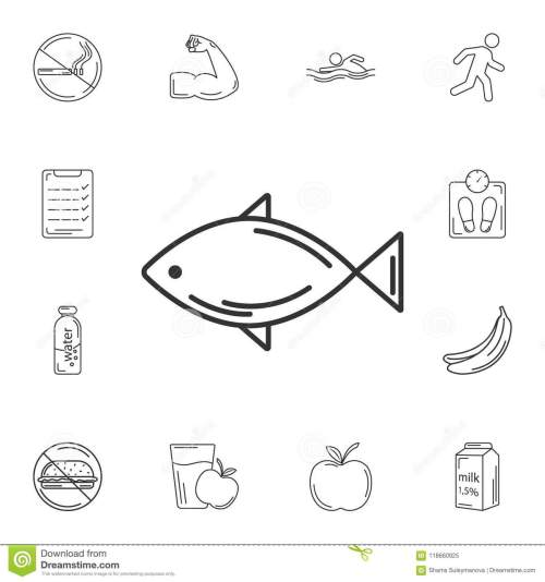 small resolution of fish icon simple element illustration fish symbol design from gym and health collection set