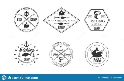 small resolution of fishing camp logo wildlife travel adventure retro labels vector illustration isolated on a white background