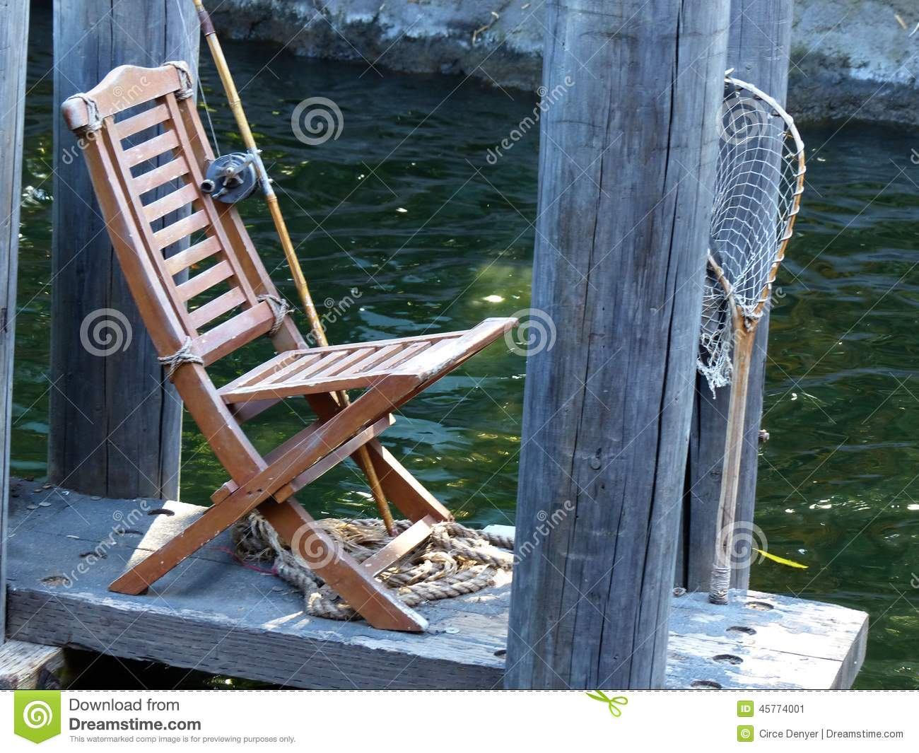 fishing chair add ons folding covers near me on the dock stock image of green