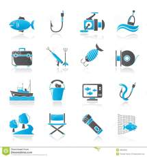 Fishing Industry Icons Stock Vector. Illustration Of Cord