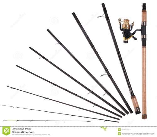 small resolution of fishing rod reel broken into parts