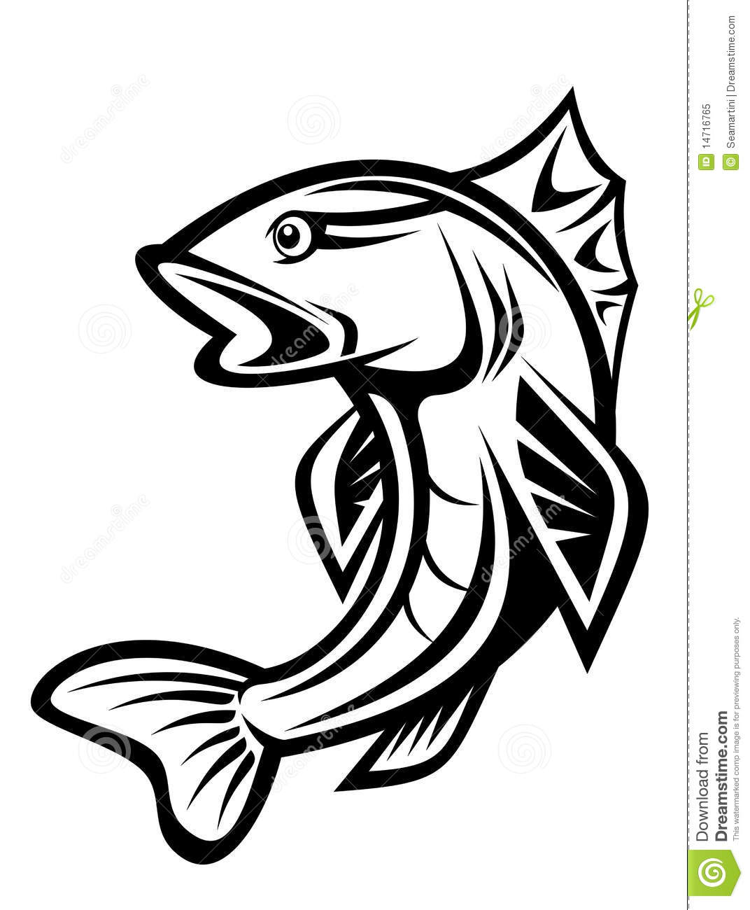 Fishing Symbol Stock Vector Image Of Catch Heart Food