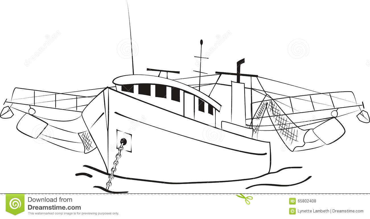 Fishing Trawler Stock Vector Illustration Of Boats