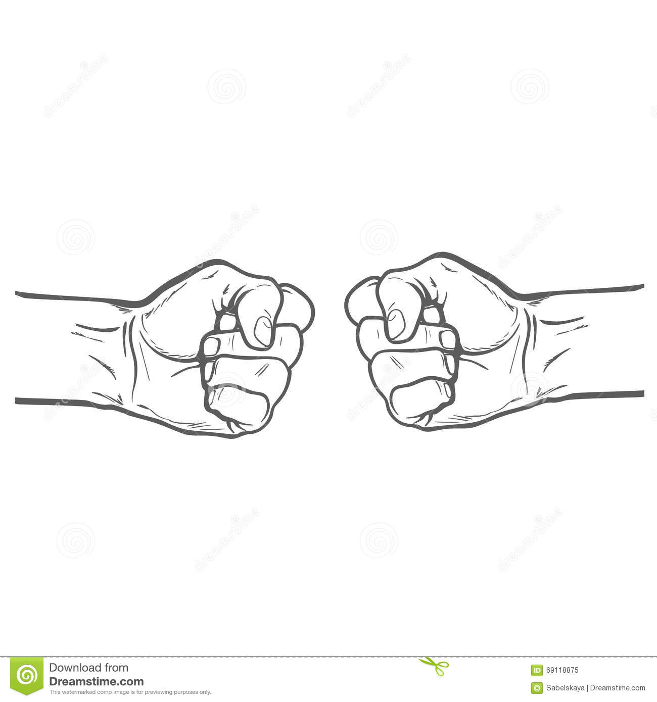Fist As A Symbol Of Good Luck Strength And Determination