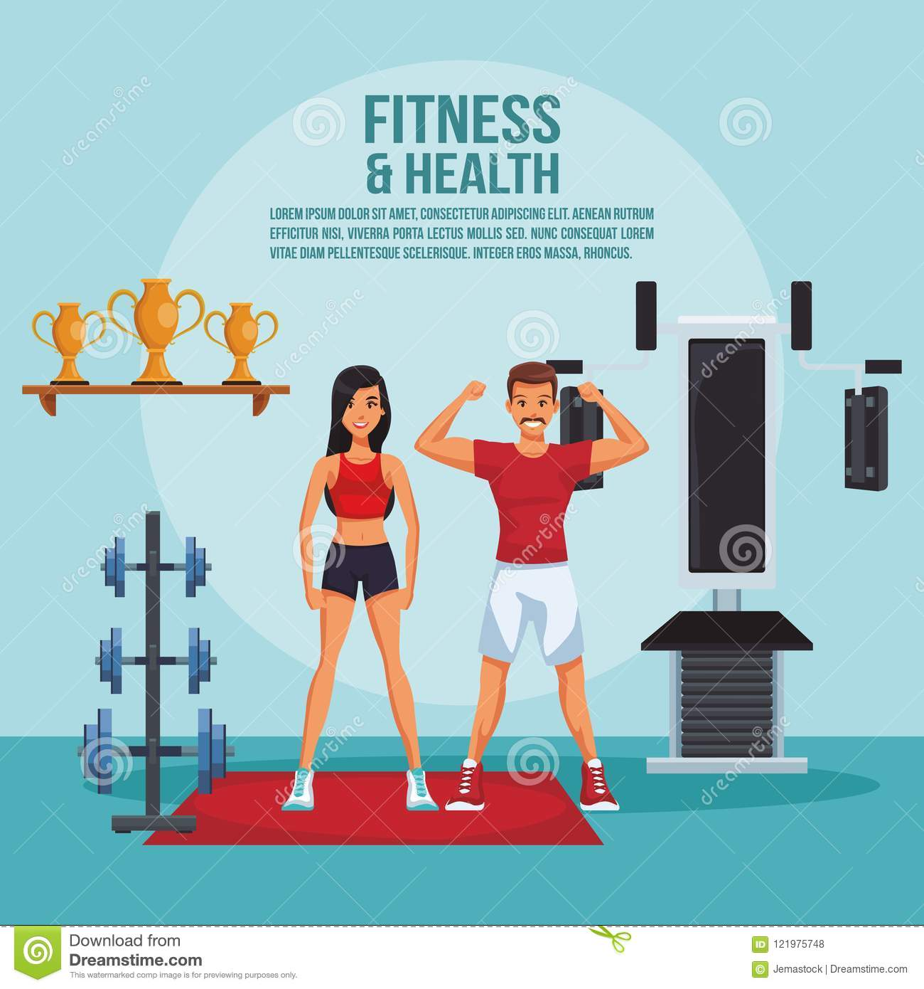 Fitness And Health Stock Vector Illustration Of Outdoor 121975748