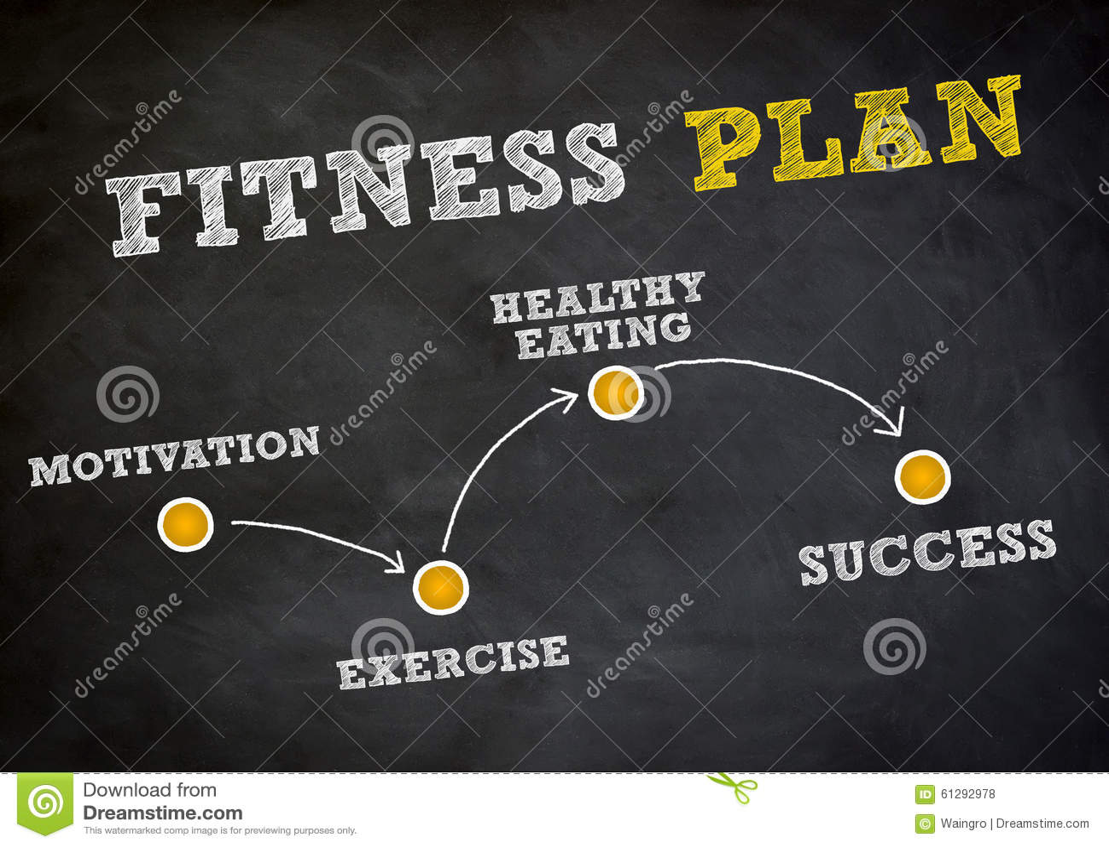Fitness Plan Stock Illustration  Image 61292978