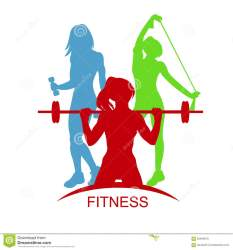 Fitness Woman Gym Emblem Vector Illustration Stock Vector Illustration of body weight: 63940670
