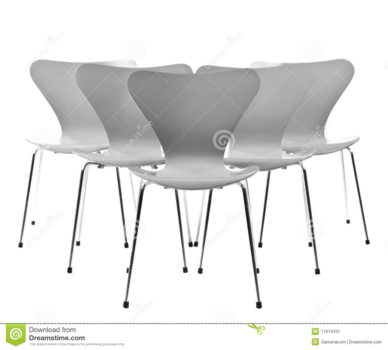 Five Chairs Five Chairs In A Formation Stock Image Image 11674101