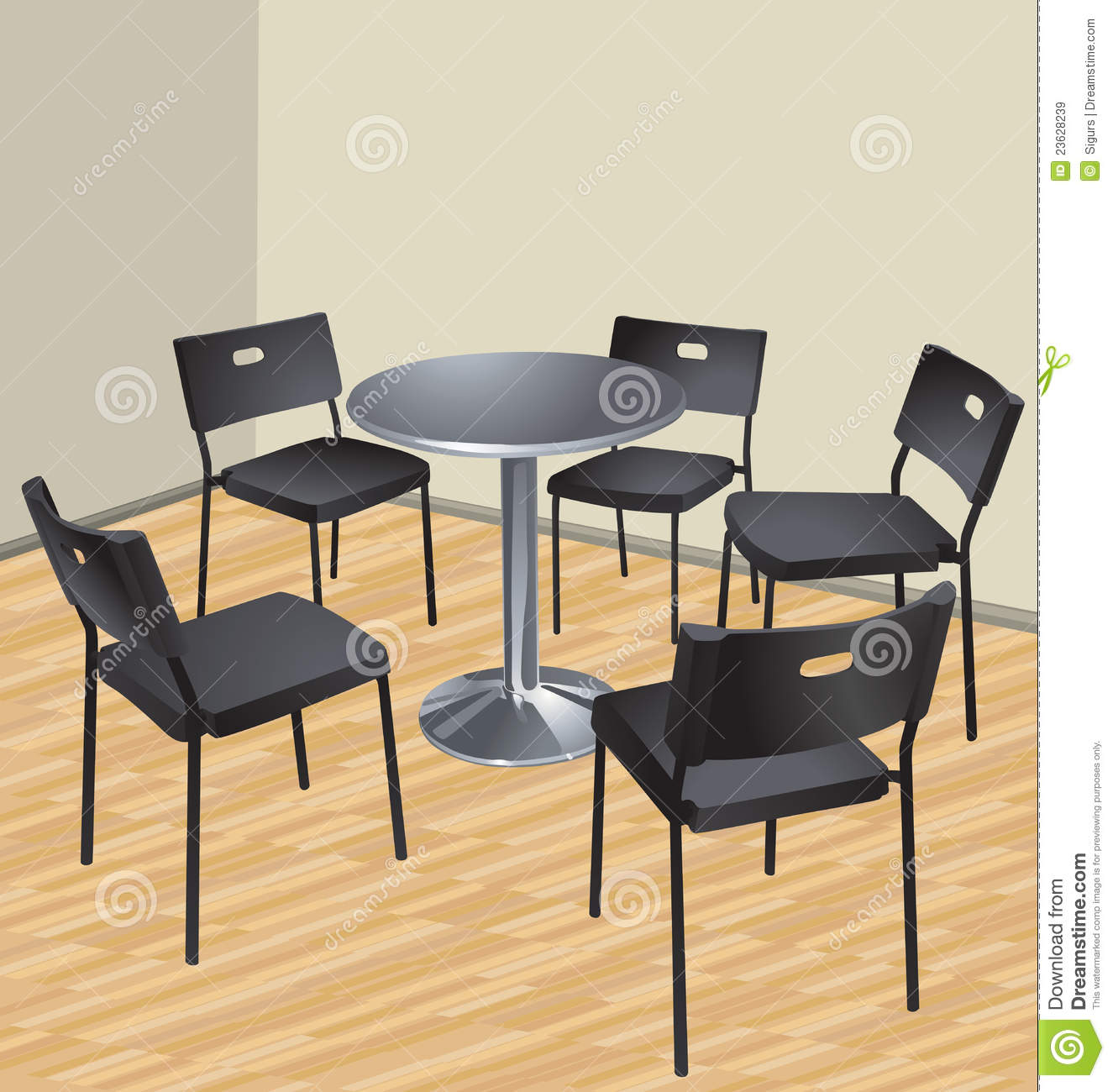 Five Chairs Five Chairs And Table Royalty Free Stock Images Image