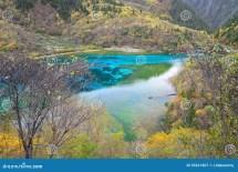 Five Colored Lake Jiuzhaigou China Stock