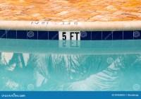 Five Feet Marking On Swimming Pool Depth Royalty Free ...