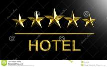 Five Golden Stars And Word Hotel Stock Illustration